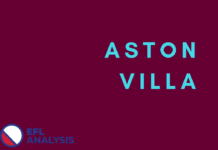 Dean Smith, Aston Villa, Tactical Analysis, Statistics