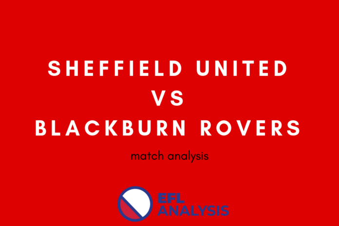 EFL Championship 2018/19: Sheffield United vs Blackburn Rovers Tactical Analysis Statistics
