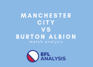 Manchester City vs Burton Albion EFL Cup Tactical Analysis Statistics