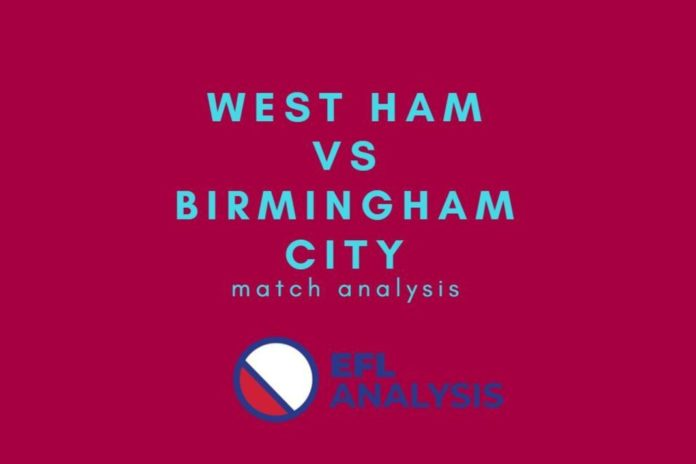 West Ham vs Birmingham FA Cup Tactical Analysis Statistics