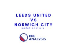 Leeds United Norwich City EFL Championship Tactical Analysis Statistics